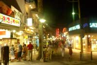 shopping at night in hersonissos